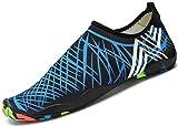 SAGUARO Unisex Aqua Water Shoes Traspirante Rapida Asciugatura Scarpe da Spiaggia Nuotare Surf Yoga Antiscivolo Estate Donna Uomo,New Blu 36