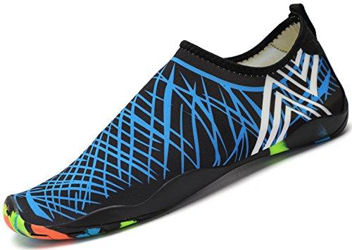 Saguaro Verano Zapatos de Agua Secado Rápido Transpirable Calzado de Natación Playa Surf Ultraligero Antideslizante Mujer Zapatillas Hombre,New Azul 42