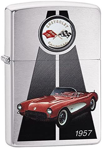 Zippo Corvette 1957 Petrol Lighter Brass Stainless Steel 1 x 6 x 6 cm product image