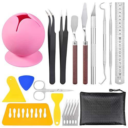 Herramientas de deshierbar de vinilo succionado, coleccionista de desechos con 20 piezas de herramientas para manualidades, juego...