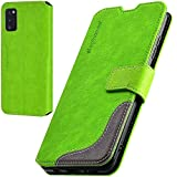 elephones Handyhülle für Samsung Galaxy A41 Hülle mit RFID-Schutz aus Premium PU Leder Flip-Hülle Handy-Tasche Schutz-Hülle Kompatibel mit Samsung Galaxy A41 Grün
