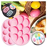 10 Holes Easter Egg Shaped Silicone Molds for...