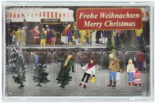 Preiser–PR10627–Figuren für die Modelleisenbahn-Dekoration Weihnachtsbäumen, Maßstab 1:87