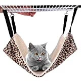 REACHS Cat Cage Hammock with Reversible Sides,Cat Hammock for Pet Cage,Hammock Bed with Hanging Hook and Soft Plush for Pet/Puppy/Kitty/Ferrets/Hamster/Guinea Pig and Ferret