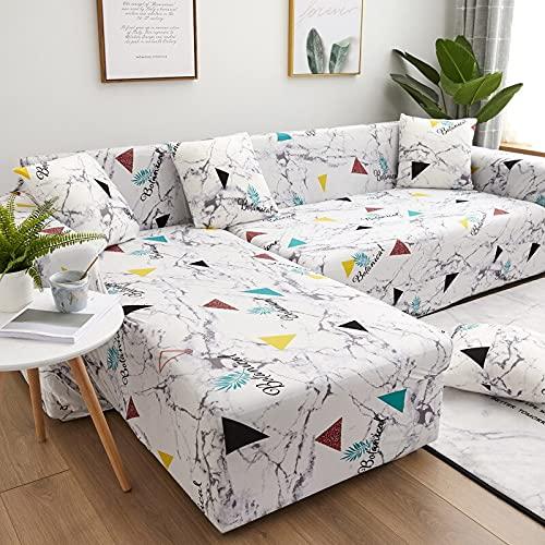 ASCV Living Room Elastic Sofa Cover Elastic Sofa Cover Recliner Sofa Universal Spandex Elastic Sofa Cover 1/2/3/4 Seat A7 4 Seater