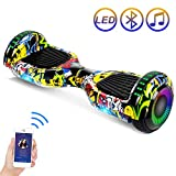SISIGAD Hoverboard Self Balancing Scooter 6.5' Two-Wheel Self Balancing Hoverboard with Bluetooth Speaker and LED Lights Electric...
