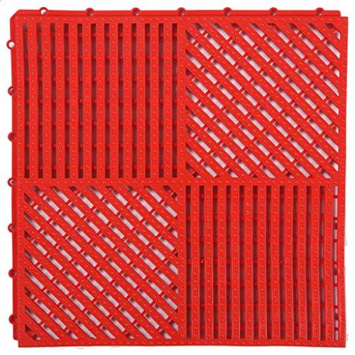 PDJSHOP Tapis de Douche Tapis de jonction for Salle de Bain PVC Drainage antidérapant Tapis de Bain for Balcon étanche à l'humidité (Color : Red, Size : 40PACK)