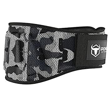 Iron Bull Strength Weightlifting Belt for Men and Women - 6 Inch Auto-Lock Weight Lifting Back Support Workout Back Support for Lifting Fitness Cross Training and Powerlifitng  Large Camo White