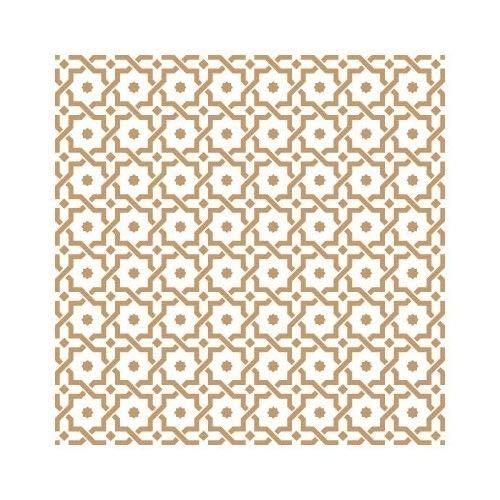 TODO-STENCIL Stencil Deco Fondo 127 Arabesco Medidas exteriores: 25x25 Medidas internas diseño 22 x 22cm