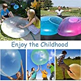 2 PCS Big Amazing Bubble Ball Wassergefüllte interaktive Gummibälle Outdoor Weiche Luft Wassergefüllte Bubble Ball Blow Up Ballon Magic Aufblasbarer Bubble Ball für Erwachsene Kind