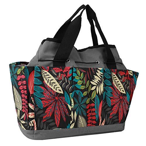 Bolsa de herramientas con clip Moda portátil para herramientas de jardín con pequeños bolsillos para el hogar(Grey flower color matching)
