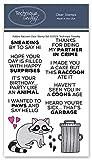 Robbie Raccoon Clear Stamps | Photopolymer-Stempel – Transparente Gummistempel | Tier-Gummistempel...