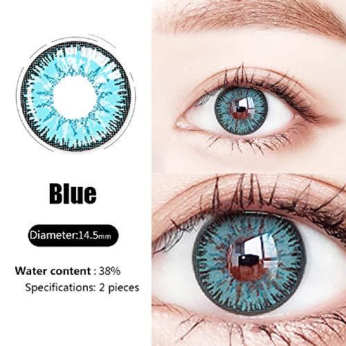 GTKY Cosplay Kontaktlinsen, Cosplay farbige Kontaktlinsen, Augenfarbwechsler, Augenzubehör für Make-up (Blue)