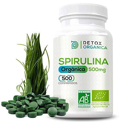 Espirulina Ecologica Comprimidos Orgánica - 500 x 500 mg | Espirulina Pastillas...
