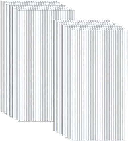 Froadp 14 Pcs Polycarbonat Hohlkammerplatten Universal Stegplatten Doppelstegplatten Gewächshaus 60,5 x 121 cm,4mm- 10,25 m²,Transparent