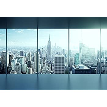10x8ft City View Backdrop Oval Glass Wall Building Group Architectural Complex Sunrise Landscape Cityscape Windows Photography Background Man Adults Portrait Shooting Photo Booth Prop