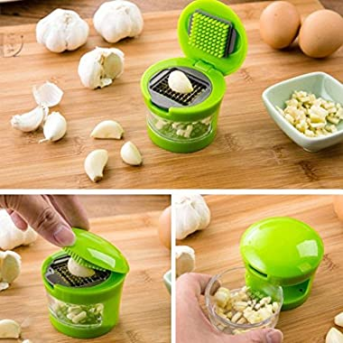 Kitchen Garlic Press,Muxika New Fashion Kitchen Multi Functional Mini Home Ginger Garlic Grinding Grater Slicer Cutter Cooking Tool Kitchen Utensils Accessories (Green)