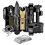 TRSCIND Compact 11-in-1 Survival Gear Kits with Paracord Bracelet,...