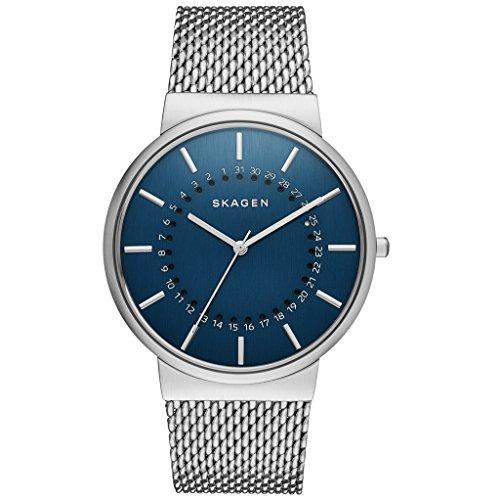 Skagen Herren Analog Quarz Uhr mit Edelstahl Armband SKW6234