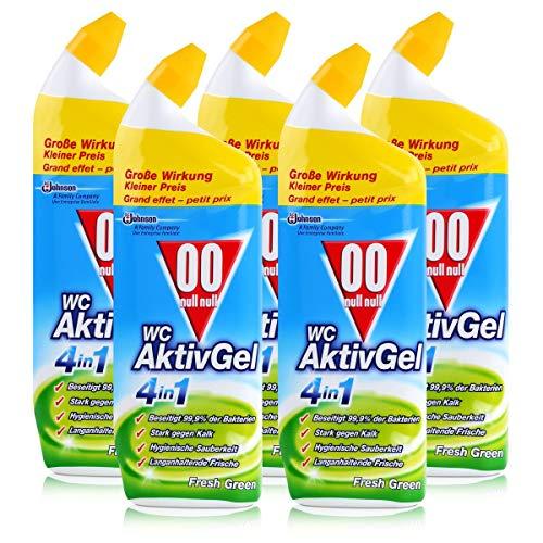 00 null null WC Aktiv Gel 4in1 Fresh Green 750ml - Stark gegen Kalk (5er Pack)