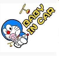 Jinling 車のステッカー面白いBabyincar機械猫カバートレース車のステッカー17 * 9cm (Color : 1)