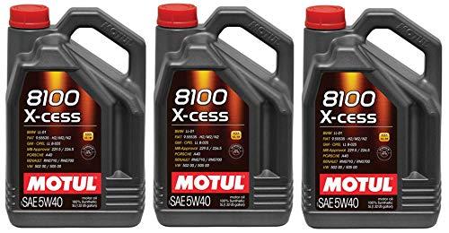 Motul 8100 X-cess 5W40 volledig synthetische motorolie, 15 liter