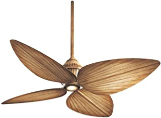 Minka-Aire F581-BG Downrod Mount, 4 White / Cream Blades Ceiling fan with 52 watts light, Bahama Beige