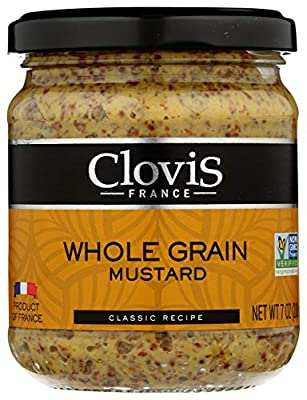 Clovis Whole Grain French Mustard, Non-Gmo Project Verified, Gluten Free, 7 Oz Jar Pack Of 6, 42 Oz