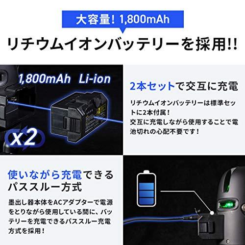 VOICEレーザー墨出し器3ライングリーンレーザーModel-G3メーカー1年保証大矩ライン照射モデルアプリからの遠隔操作タッチスイッチ