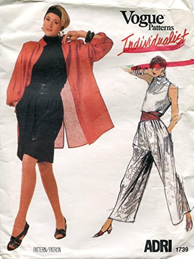 Vogue Individualist Pattern 1739 Adri Misses' Jacket, Pants, Shorts, Top & Belt, Size 16 (Bust 38)