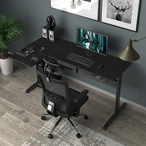 soges Escritorio en Forma de L Escritorio de Esquina Grande Escritorio de computadora Mesa de Oficina estación de Trabajo informática Mesa de Juego para Oficina en casa, S1-XTD-DJ01-BK