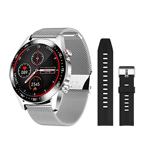 GULU 2021 E12 Smart Watch Männer Bluetooth Anruf IP67 wasserdichte Herzfrequenzmonitor DIY Uhr Gesicht Sport Smartwatch Für Android Ios,H