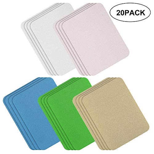 Iron-on Patches 20 Pieces Iron on Clothes Patches Kit by eMgioo, Light Assortment, 5 Colors