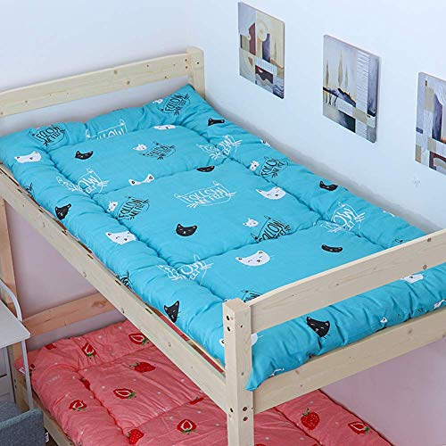 Folding Student Dorm Mattress, Thick Japanese Futon Mattress, Easy Clean Foldable Tatami Mat Single Double Rollable Mattress Cover 120x200cm (47x79in)