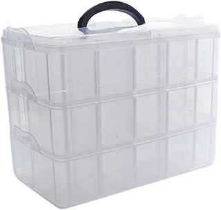 Sweet+ 収納ケース 収納ボックス パーツケース 小物 パーツ おもちゃ 部品 ケース 仕切り付き キャリーボックス (L 1個)