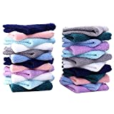 24 Pack Baby Washcloths - Ultra Soft Absorbent Wash Cloths for Baby and Newborn, Gentle on Sensitive Skin for Face and Body, 8' by 8' Multicolor