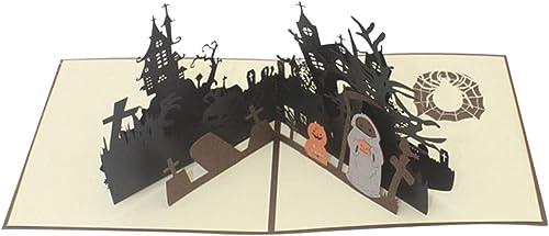 discount Halloween popular 3D Pop Up Greeting Card Paper-Cut Decoration Pumpkin Haunted House Greeting Card online Halloween Gift for Kids (Haunted House) sale