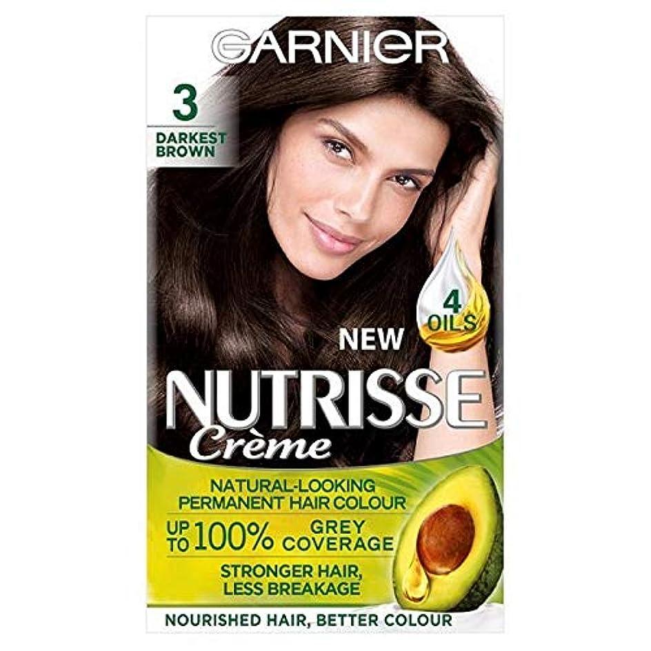 メナジェリー食器棚不忠[Garnier ] 3暗い茶色ガルニエNutrisseパーマネントヘアダイ - Garnier Nutrisse Permanent Hair Dye Darkest Brown 3 [並行輸入品]