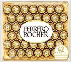 Ferrero Rocher Chocolate Easter Gift Set, Hazelnut and Milk Chocolate Pralines, Box of 42 Pieces