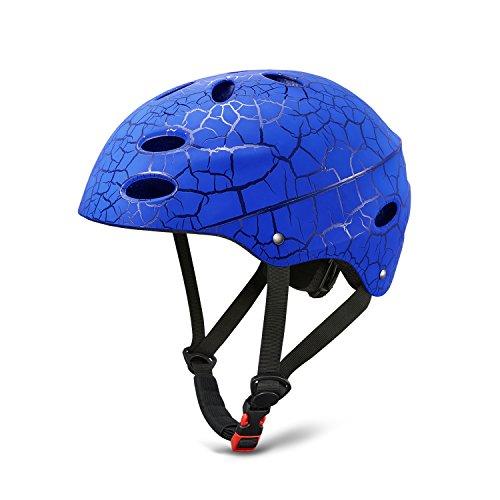 Kinder Fahrradhelm Rollerhelm Schale für Radfahren Skateboard Bike BMX (Blau)