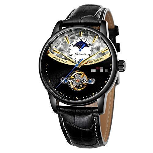 Relojes para Hombres, Relojes Automáticos Tourbillon Moon Phase Business, Relojes Mecánicos Esqueleto,...