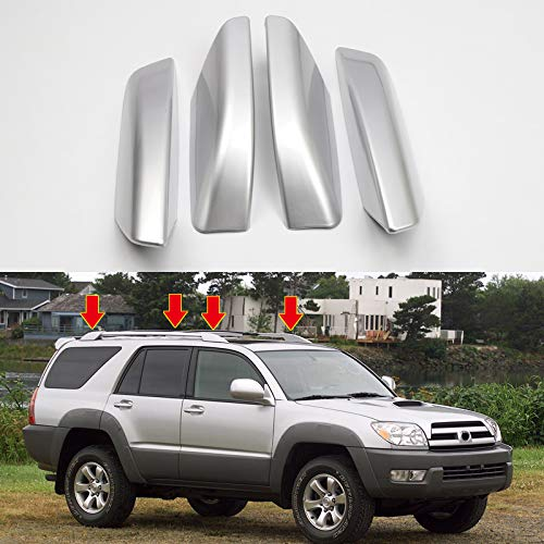 YUZHONGTIAN Silver Roof Rails Rack Leg Cover End Cap Protection Cover Shell for Toyota 4Runner N210 2003-2009