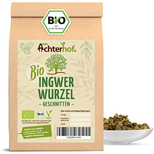 Ingwerwurzel Tee BIO (500g) | Ingwertee | Bio-Ingwer getrocknet geschnitten vom Achterhof
