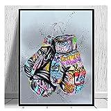 Tiiiytu Guantes De Boxeo Graffiti Art Posters E Impresiones Lienzo Pinturas Calle Arte De La Pared Imagen para La Sala De Estar Decoración del Hogar -50X70Cm Sin Marco