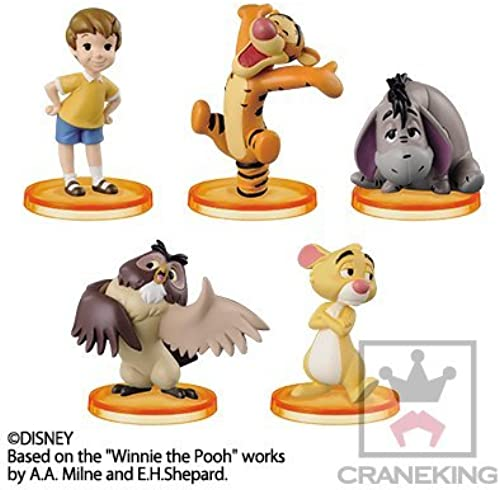 Disney Characters World Collectible figures story.03  Winnie the Pooh  whole set of 5