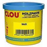 Clou Holzpaste zum Reparieren und Auskitten von Holzschäden weiß, 150 g: gebrauchsfertige Paste...