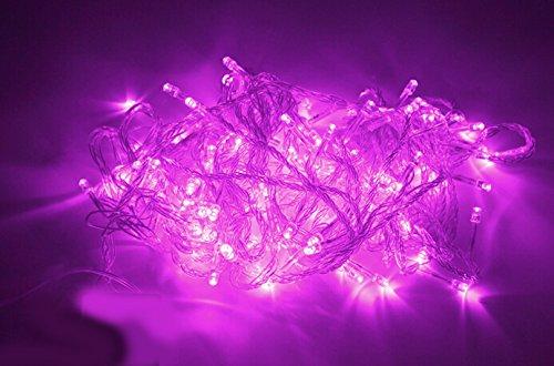 Samgu 5 mètres Rose Lumière chaîne de LED 50Leds LED Guirlande led lampe ampoule éclairage étanche pour jardin décoration extérieur intérieure lumineuse, idéal pour Noël , fêtes , mariages, maison, sapin de noël