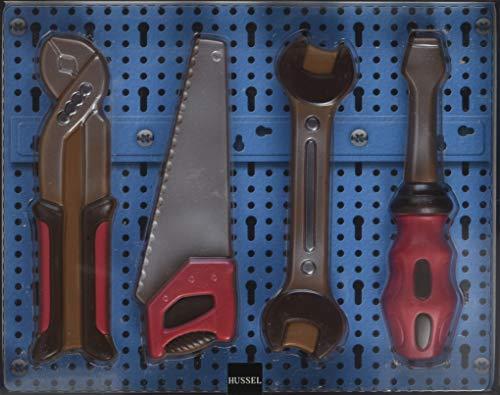 HUSSEL Werkzeug-Set Vollmilchschokolade, 150 g