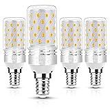 LOHAS E14 Maíz Bombilla LED, 10W Equivalente a 80W Lámpara, Blanco Cálido 3000K Maíz LED Bulbo, 850 Lumens, E14 Tornillo Edison Pequeño Bombillas LED, No Regulable, Aquete de 4