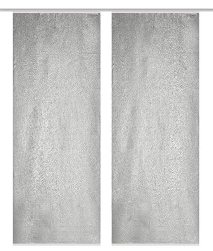 HOME WOHNIDEEN Raumteilerset Aus Blickdichtem Dekostoff Digitaldruck Oliverio 2Er Set 2 x 245 x 90 cm Natur